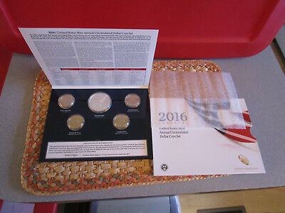 RARE 2016  US MINT UNCIRCULATED ANNUAL DOLLAR SET  comes with the special  eagle