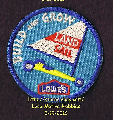 LMH Patch TEN (10)  LAND SAIL Pinewood Race Car LOWES Build Grow Kids Clinic LOT