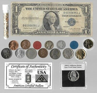Silver Dollar Barber Mercury Liberty Indian WWII War US Coin Collection Lot Gold