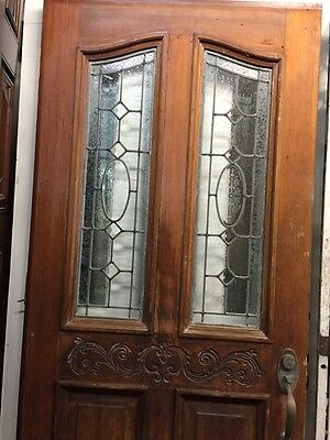 Front Doors  With Stained Glass