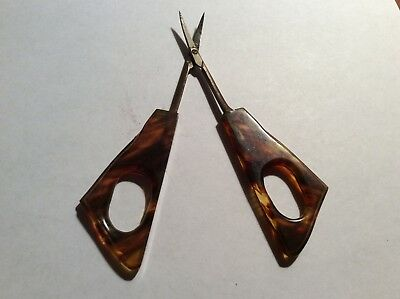 Sterling Silver Amber  Nail Scissors