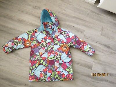 Hanna andersson floral quilted coat 120 6 7 girls