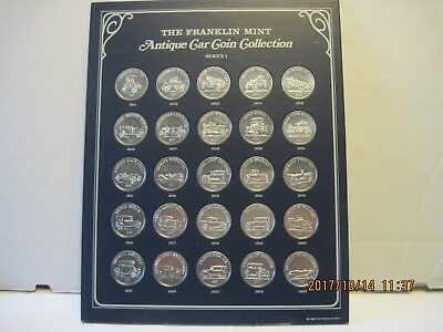 Franklin Mint Sunoco Antique car coin collection series #1 -- 25  coins
