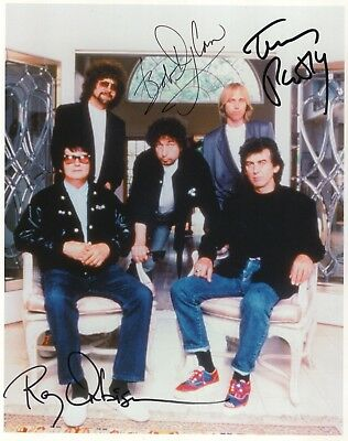 Traveling Wilburys Signed 8X10 RP Photo Bob Dylan Tom Petty Roy Orbison