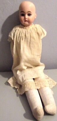 "Antique Armand Marseille Bisque Head 21"" Doll Leather Body AM 2 1/2 DEP 3200"