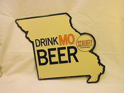 >> New Drink Mo Beer Schlafly The St Louis Brewery Mo State Shaped Metal Sign