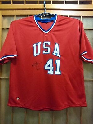 Mark McGwire auto Olympics Team USA jersey Online Authentics COA