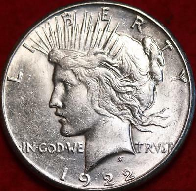 Uncirculated 1922-S San Francisco Mint Silver Peace Dollar Free S/H