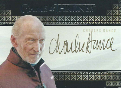 Rittenhouse Game Of Thrones Valyrian Steel Auto Charles Dance Tywin Lannister