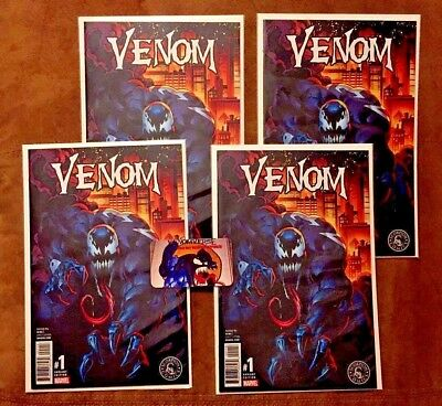 Lot Of 4 Venom #1 Mark Bagley Color Variant Nm Limited Run Only 3000 Made Rare!