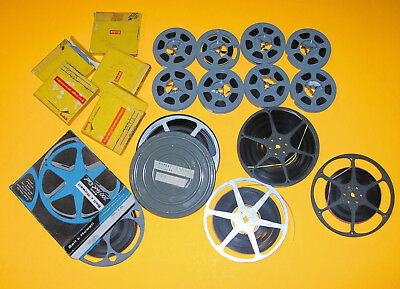 LOT OF (18) VINTAGE 50's- 60's HOME MOVIES 8mm
