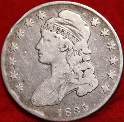 1835 Philadelphia Mint Silver Capped Bust Half Dollar Free S/H