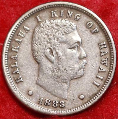 1883 Hawaii Silver 10 Cent Foreign Coin Free Shipping