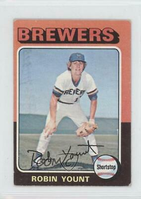 1975 Topps Minis #223 Robin Yount Milwaukee Brewers RC Rookie Baseball Card