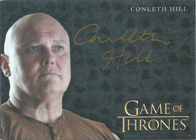 Rittenhouse Game Of Thrones Valyrian Steel Gold Auto Conleth Hill Lord Varys