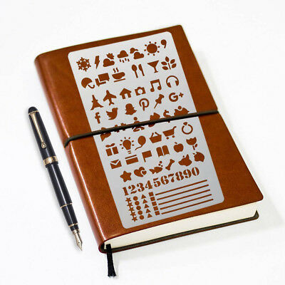 2017 20pcs Bullet Journal Stencil Set DIY Drawing Painting Template Stencil Pack
