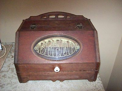 Vintage Breadbox Solid Wood  A Real Eye Catcher