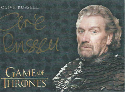 Game Of Thrones Valyrian Steel Gold Auto Clive Rusell Ser Brynden Tully Blackfsh