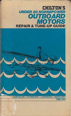 Chrysler Evinrude Johnson Mercury Outboard Motor (To 30Hp) 1966-72 Repair Manual