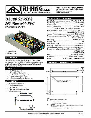 Tri-Mag DZ300-7EU 12VDC 12V 30A 300W 360W regulated power supply No min load PFC