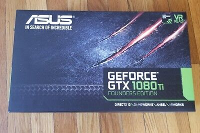 ASUS Geforce GTX 1080 TI FE 11Gb GDDR5X Founder Edition Video Card GPU