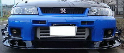 For Nissan Skyline R33 GTR Carbon Fiber AS Style Front Lip Under Bumper Bodykits