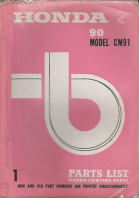 HONDA 90cc MODEL CM91 SUPER CUB ORIG. 1966 FACTORY ILLUSTRATED PARTS CATALOGUE