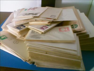 Massive 600+ Piece Lot of FDC Postal Stationary, As Shown, Huge Catalog Value
