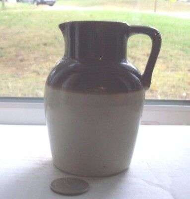 Very Nice Victorian Pottery Crock With Handle