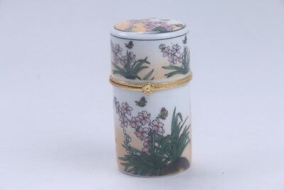 exquisite Chinese painting flower porcelain Toothpick box   BB524