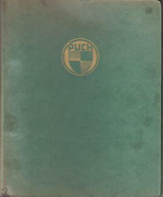 Puch 125Sv 125Svs 175Sv 175Svs Orig. 1956 Factory Parts Catalogue (Eng & French)