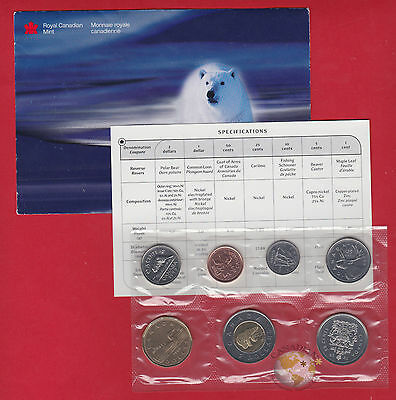 1999 - - PL Set- - Canada Proof Like Mint Set - With COA and Envelope Polar Bear