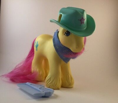 G1 My Little Pony Big Brother Tex With All Accessories - Bandana, Brush And Hat!