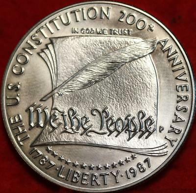 Uncirculated 1987-P Philadelphia Mint Silver US Constitution $1 Free Ship