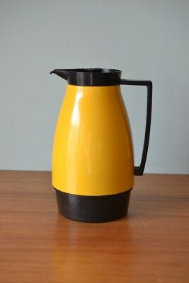 Vintage Retro  jug Pitcher carafe yellow thermos Japan