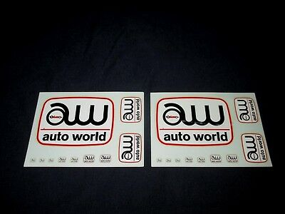 AUTO WORLD-VINTAGE 1970s ERA SLOT CAR WATER DECAL SHEETS