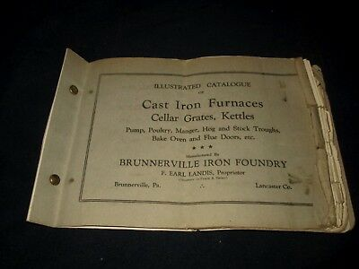 BRUNNERVILLE IRON FOUNDRY-CAST IRON FURNACES-GRATES-KETTLES-1920s ERA CATALOG