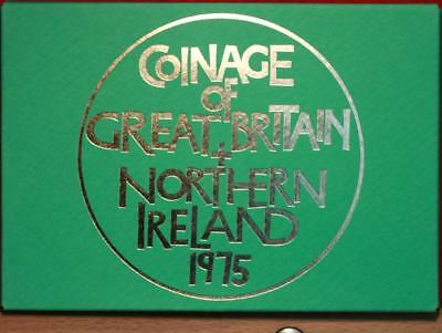 Uncirculated 1975 Coinage Of Great Britain & Northern Ireland Proof Set Free S/H