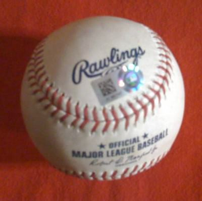 MIKE TROUT (Ball) FRANCIS MARTES (K StrikeOut) CAMERON MAYBIN  8/26/17 Game Used