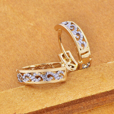 Childrens Girls Jewellery Safety cute hoop earrings jewelry Real 14k gold filled