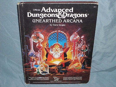 Advanced Dungeons & Dragons 1st Ed Hardback:  UNEARTHED ARCANA  (Hard to Find!!)
