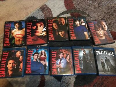 Smallville Complete Series DVD (S1-5) Blu-Ray (S6-10) Superman