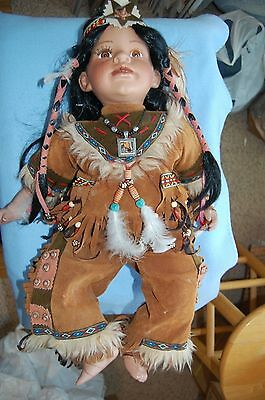 Native American Cathay Collection Porcelain Limited Edition #39-5000 Doll