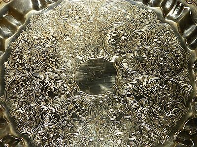 Vintage Silver Plated Dinner/Party Cake Tray - Elegant & Beautifully Ornate