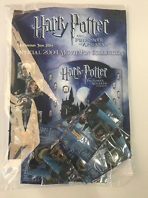 2004 Harry Potter-Prisoner Of Azkaban Official Movie Pin Collection - Full Set