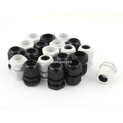 20Pcs PG16 Waterproof Cable Glands Connector for 10-14mm Dia Wire 27.4 x 38.3 mm