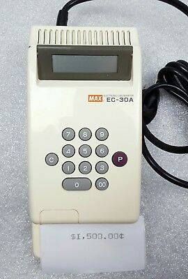 Max Electronic Checkwriter - EC30A