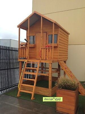 CUBBY HOUSE Solid Timber THE JAKE by Design A Shed NEW Made in Melbourne