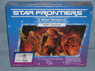 TSR's STAR FRONTIERS Miniature Set PLAYER CHARACTERS (Rare in the SHRINK WRAP!!)