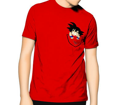 Dragon Ball T Shirt | Pocket Kid Goku | Goku Saiyan Anime | Kids - Mens 6XL